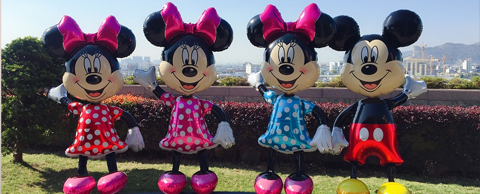 SUPER SHAPE 96INCHES MICKEY AND MINNIE