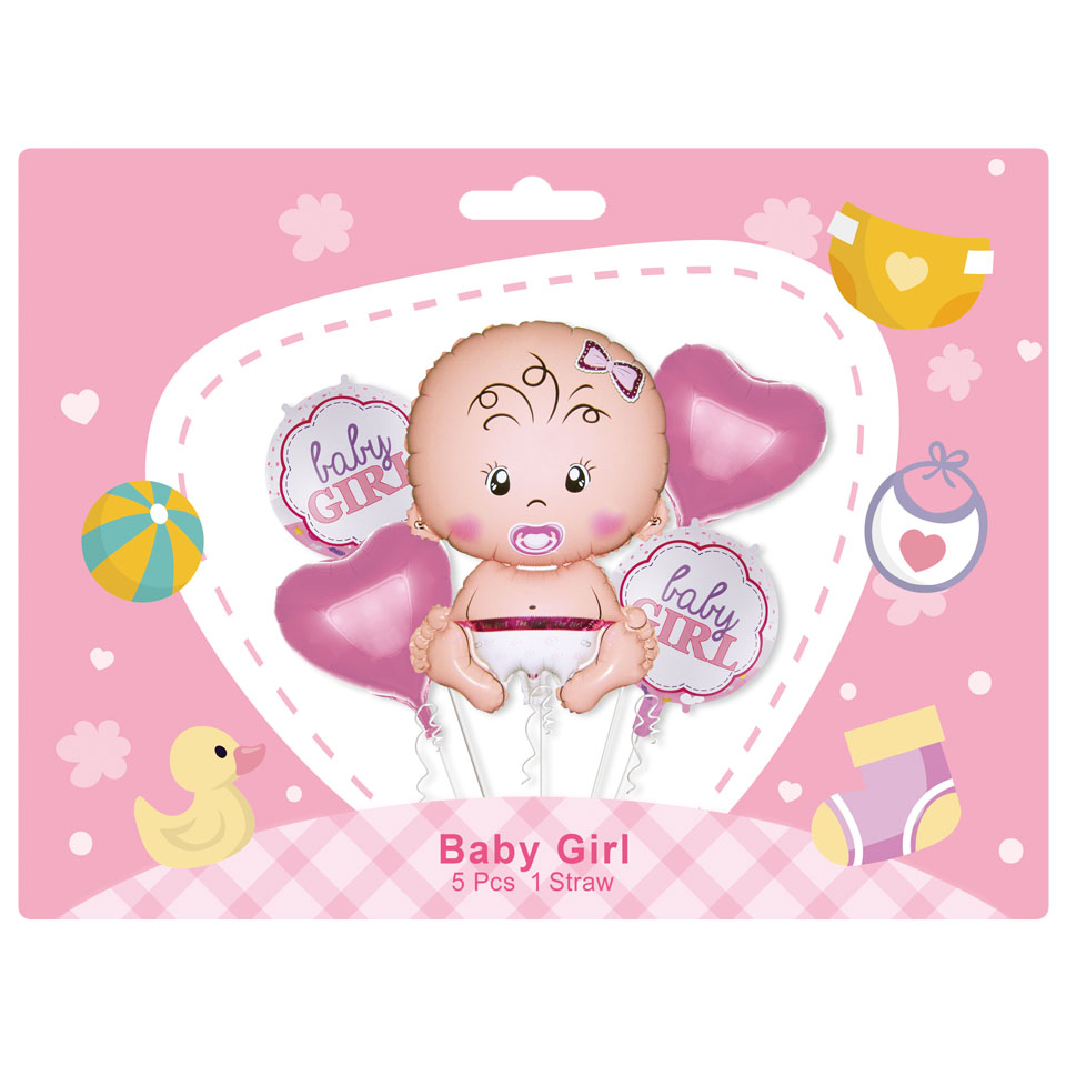 Baby girl 5pcs set balloon