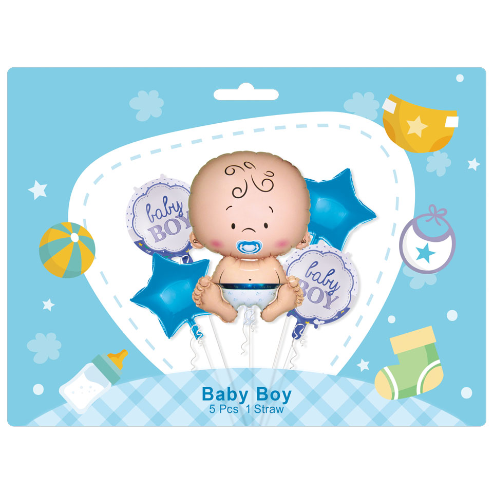 Baby boy 5pcs set balloon